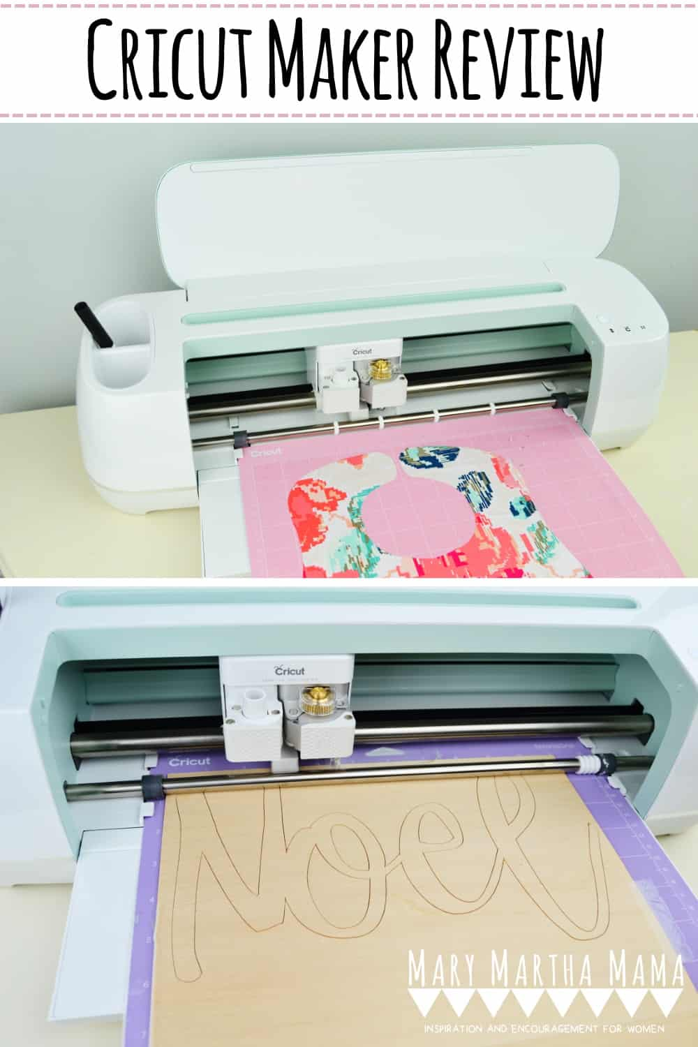 Cricut Maker Review- Read all about what the Cricut Maker can cut and how well it cuts in addition to how easy it is to use. #cricutmakerreview #cricutmaker