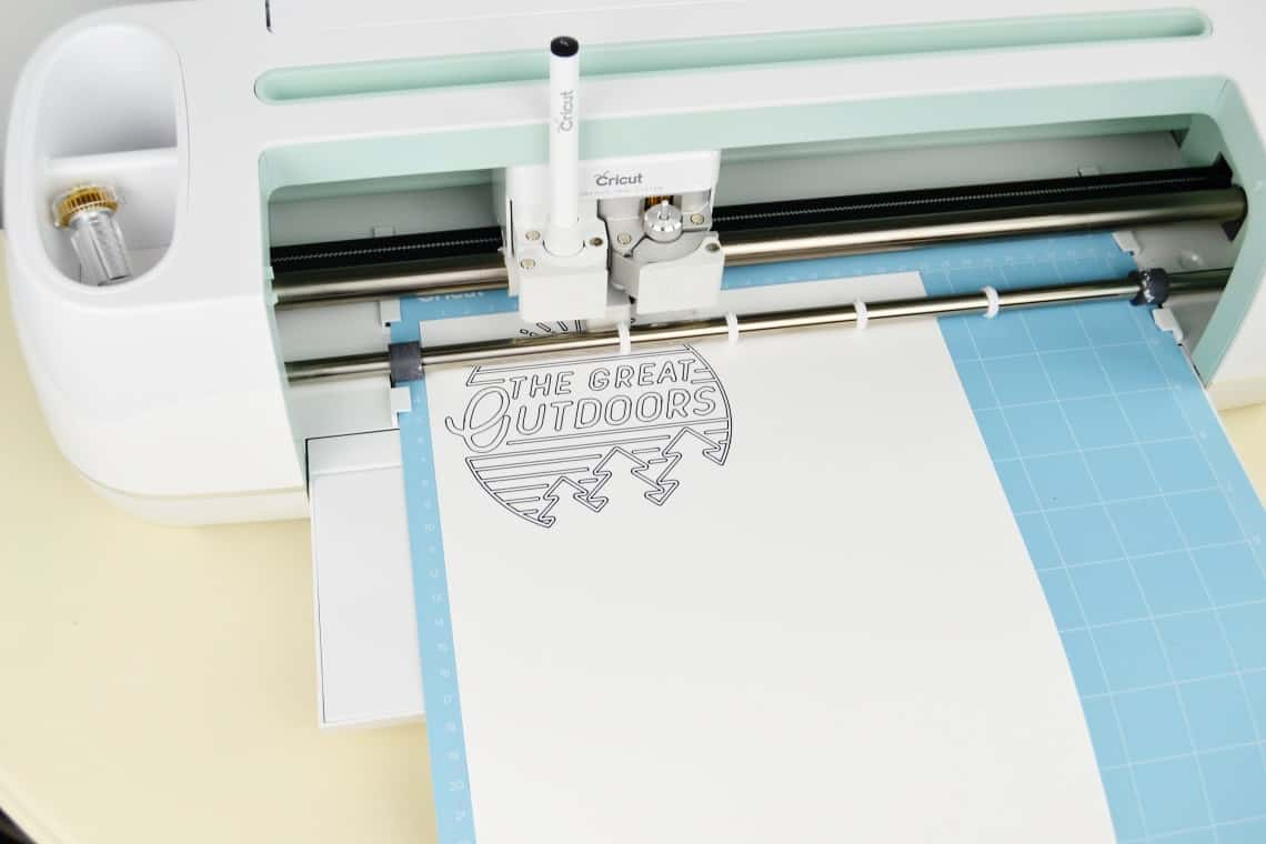 Cricut Maker Review: The pen drawing on card stock
