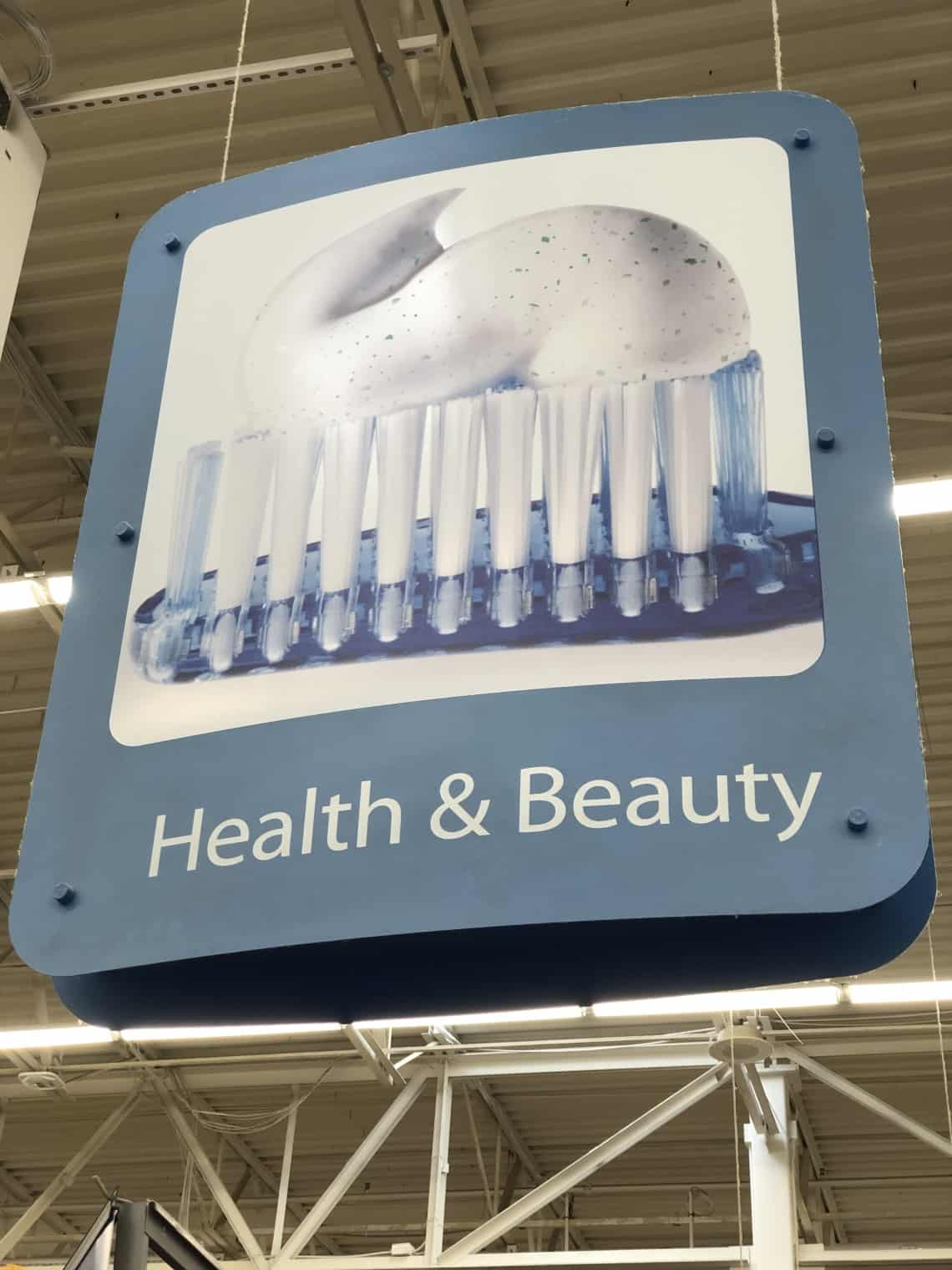 health and beauty sign