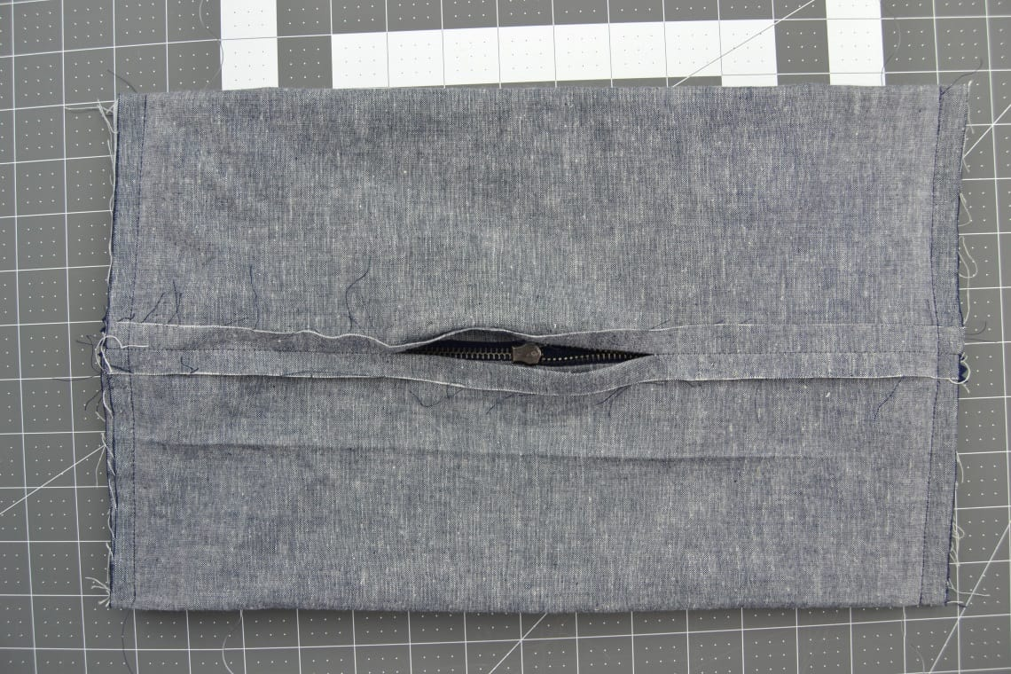 the sides of the bag sewn