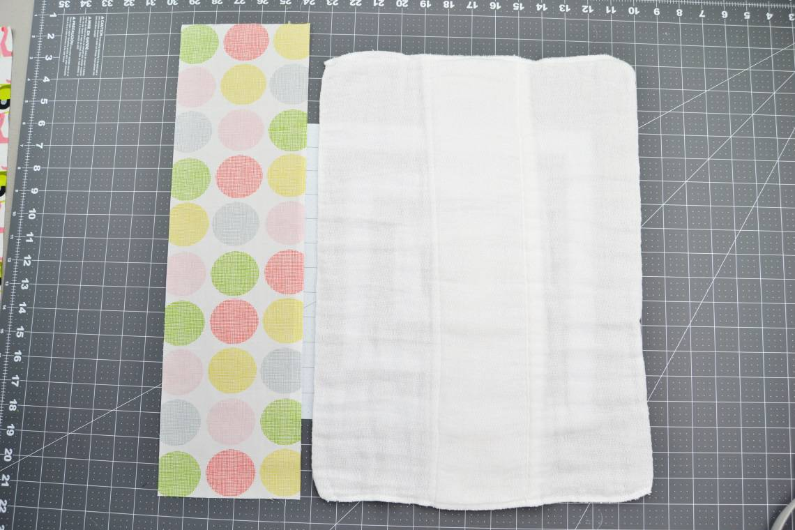 materials needed to make a burp cloth from a cloth diaper