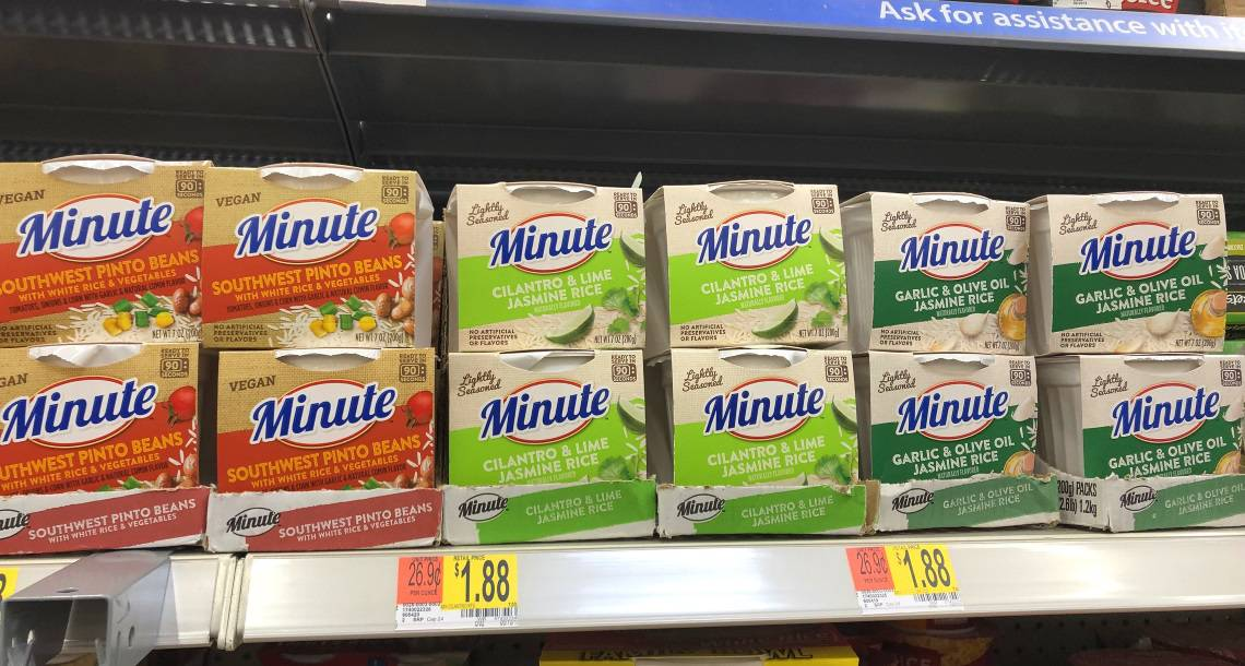 Minute® Ready to Serve rice on the shelf in the store