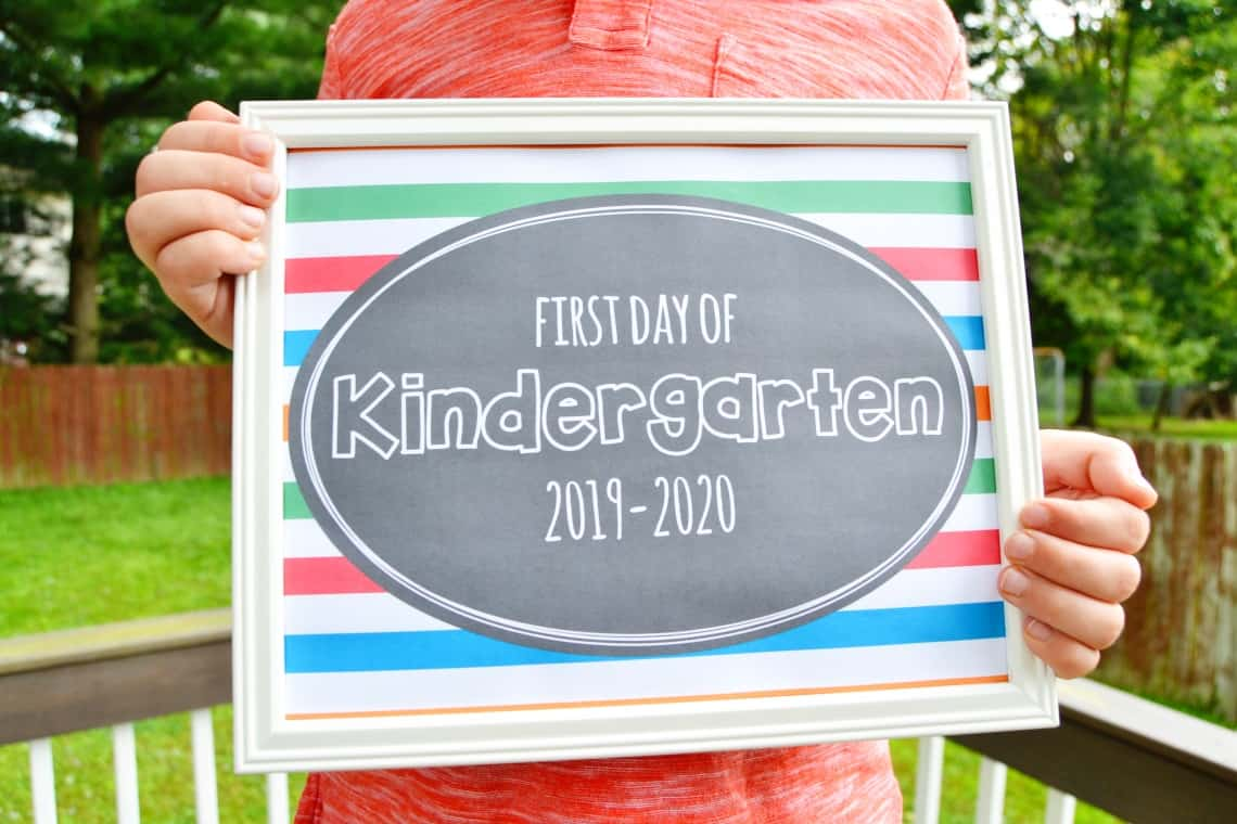 photo about First Day of School Sign Printable named Printable To start with Working day of Higher education Indicators 2019 Mary Martha Mama