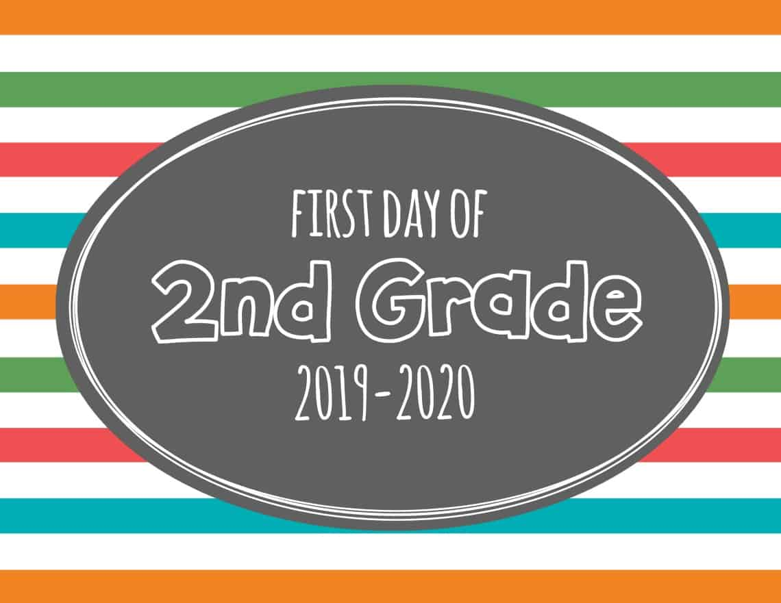 first day of 2nd grade sign