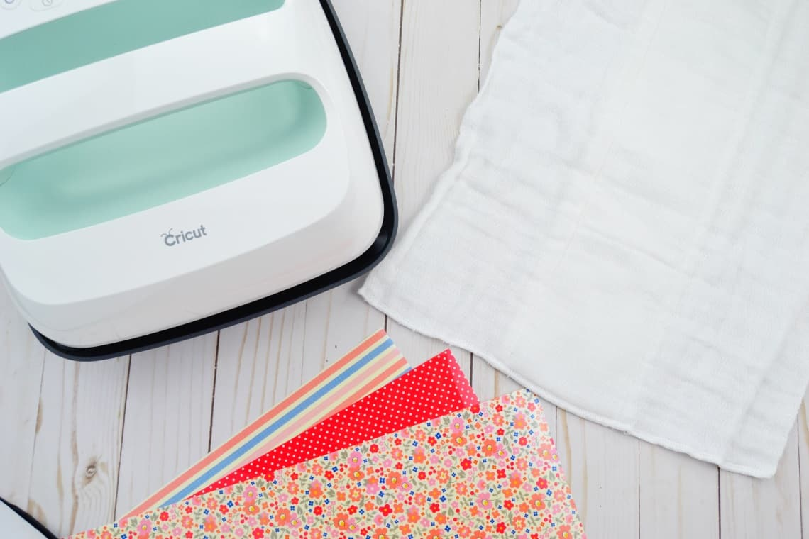 cricut easy press 2, vinyl, and a cloth diaper