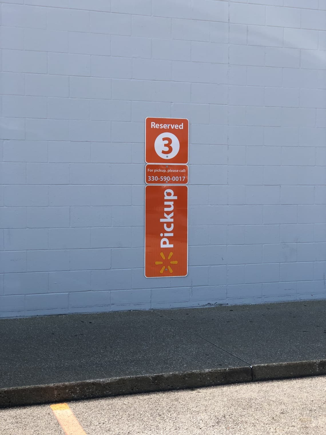 online grocery shopping pick up parking space