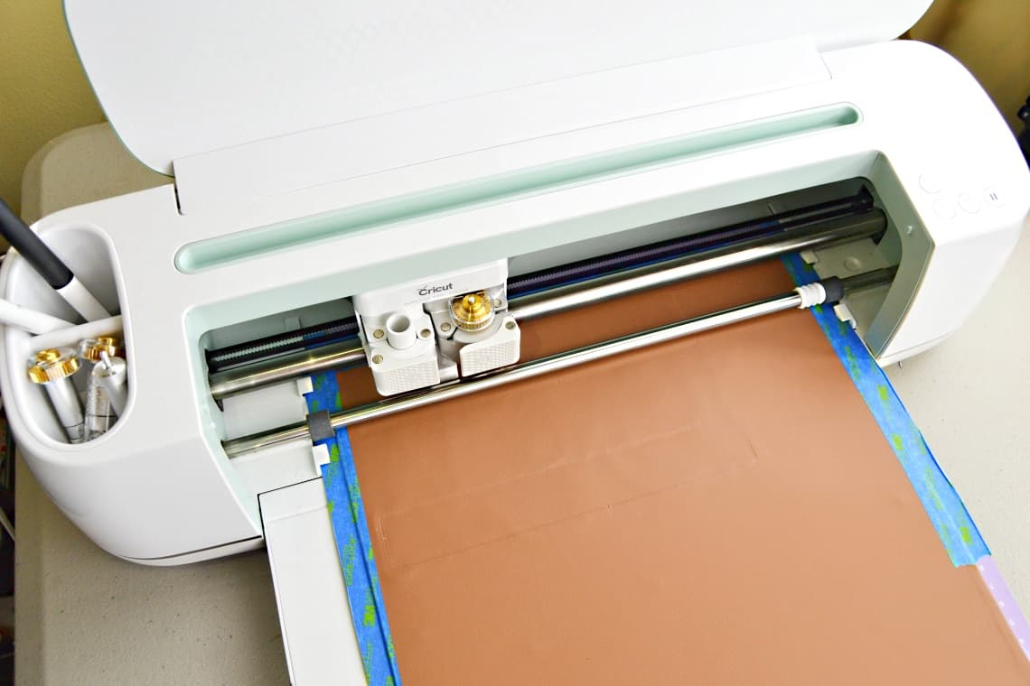 the Cricut Maker cutting and debossing