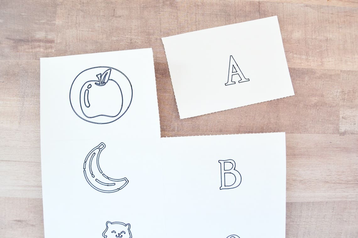 perforated flash card sheets
