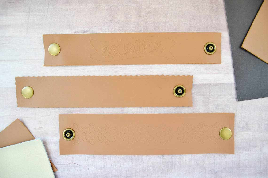 the diy leather cuff bracelets with snaps attached