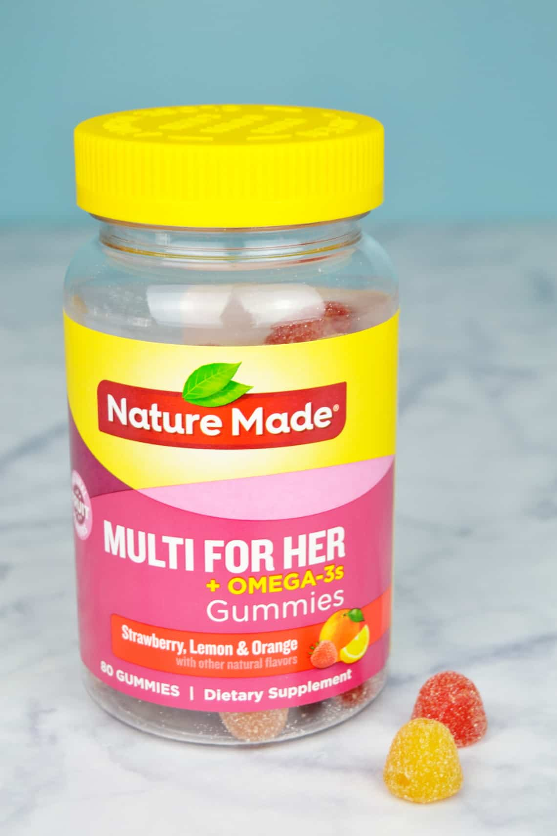Women's Multi bottle on counter