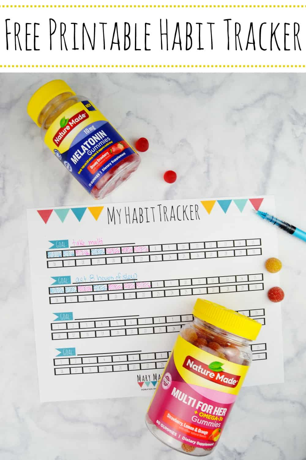 Free Printable Habit Tracker- Track your progress toward your goals 30 days at a time with this habit tracker sheet. #freeprintablehabittracker #habitracker #goaltracker
