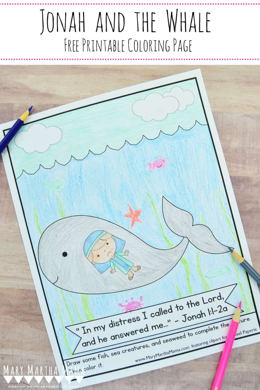 Jonah and the Whale Coloring Page- Free printable Jonah and the Whale Coloring Page #jonahandthewhalecoloringpage #jonahandthewhaleprintable #Biblecoloringpage