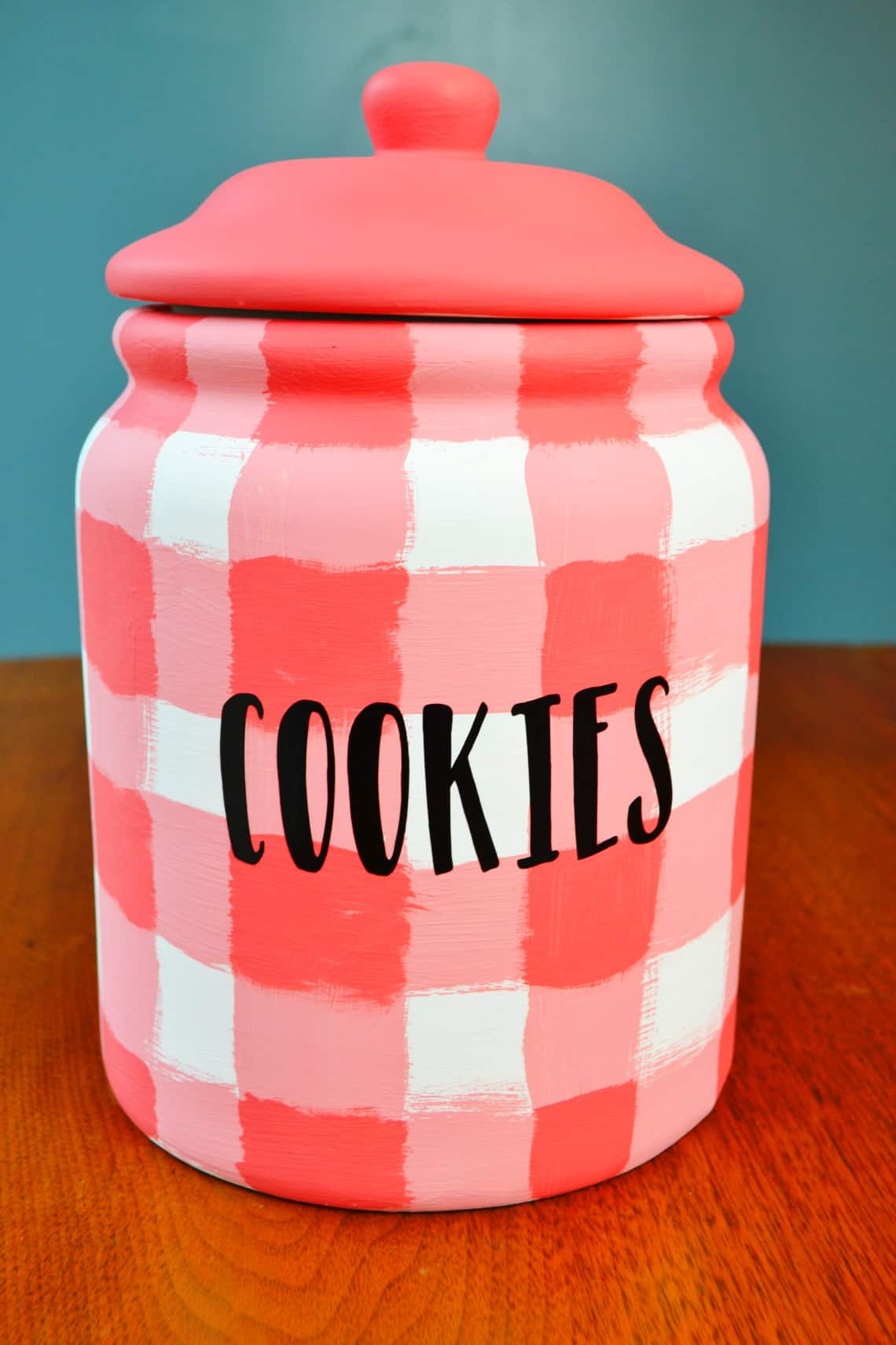diy cookie jar makeover