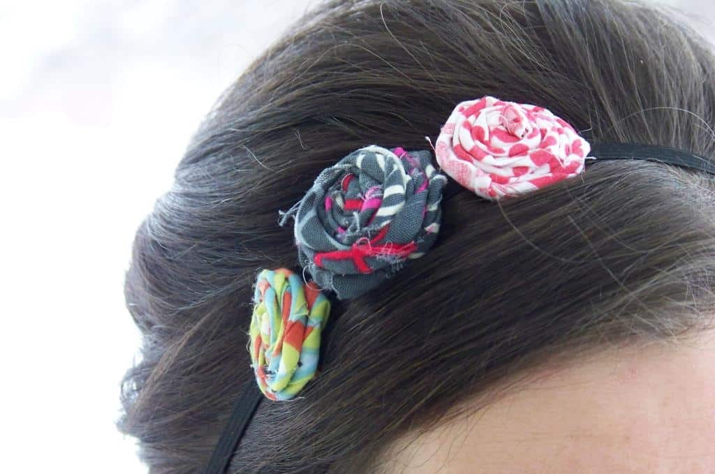 how to make headbands with fabric: Fabric Flower Headband