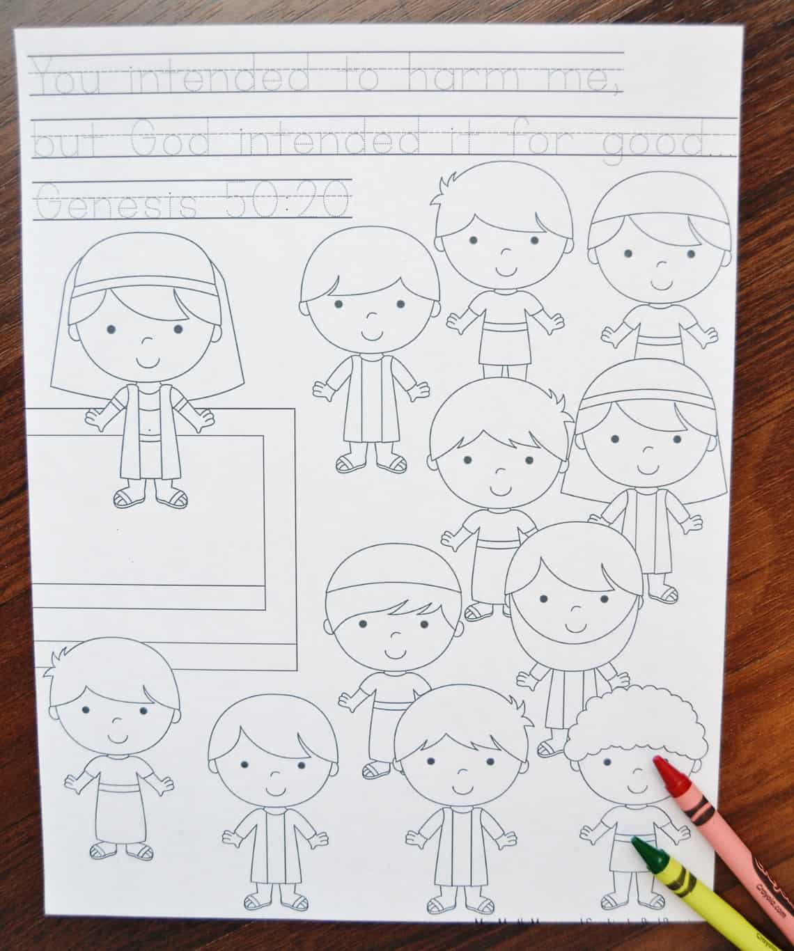 coloring page #3 with crayons