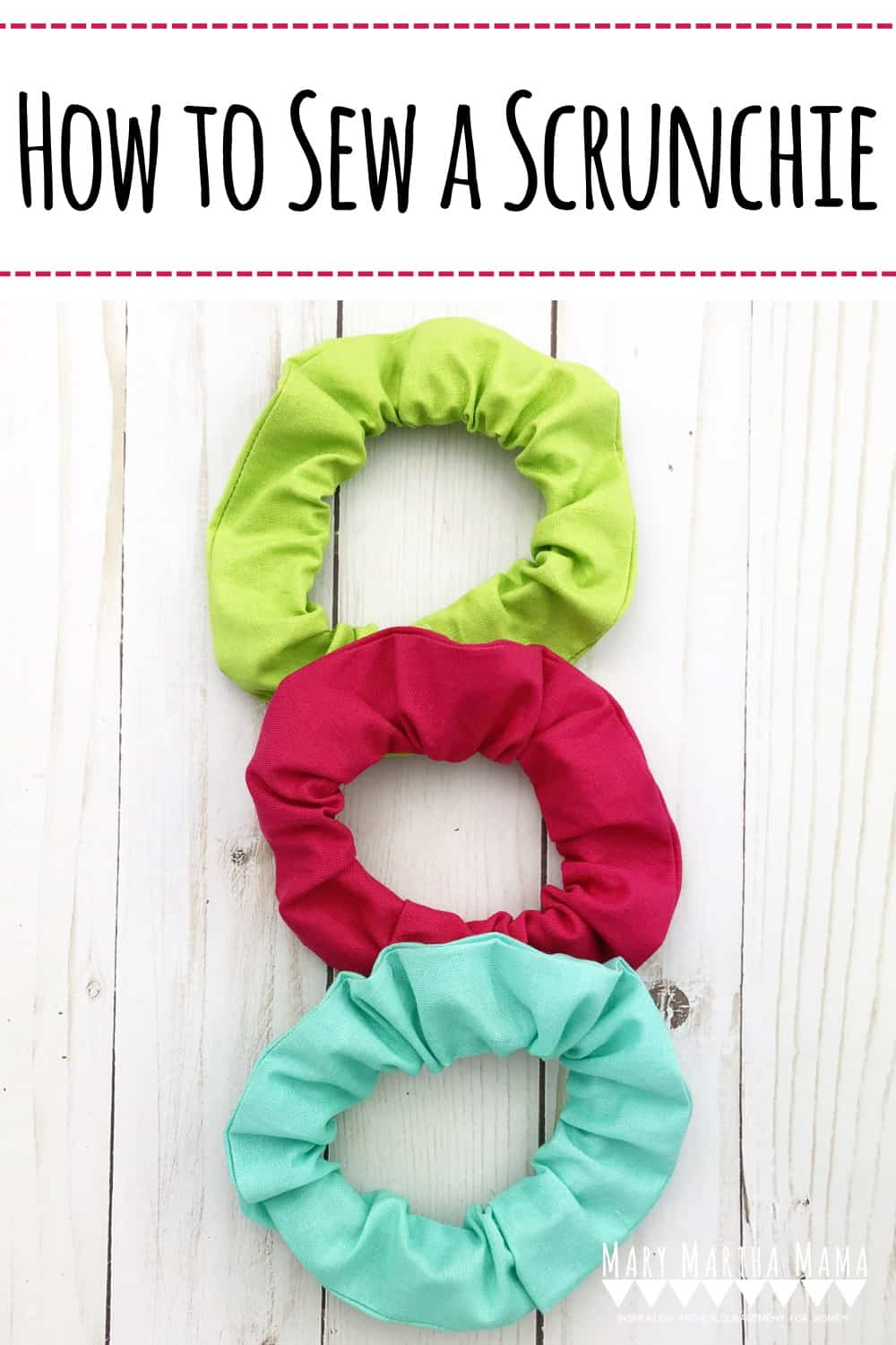 How to Sew a Scrunchie- You can easily sew a scrunchie from some long scraps of fabric and elastic following this tutorial.