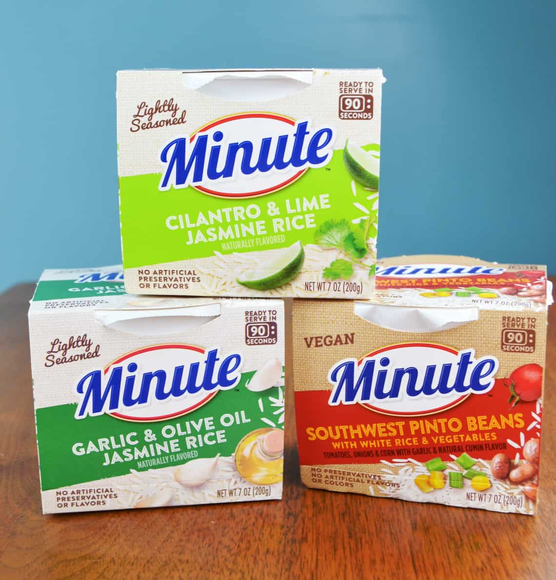 Minute ready to serve rice varieties