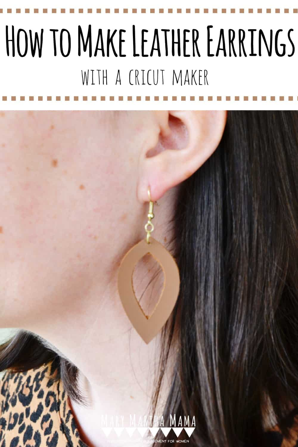 Follow this simple step by step tutorial with pictures to learn how to make leather earrings with your Cricut Maker.  Three styles featured in this project.