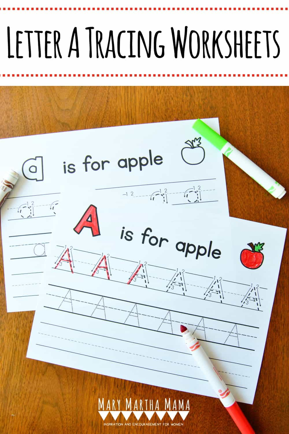 Does your child need practice with writing his or her letters? Check out these free printable Letter A Tracing Worksheets.