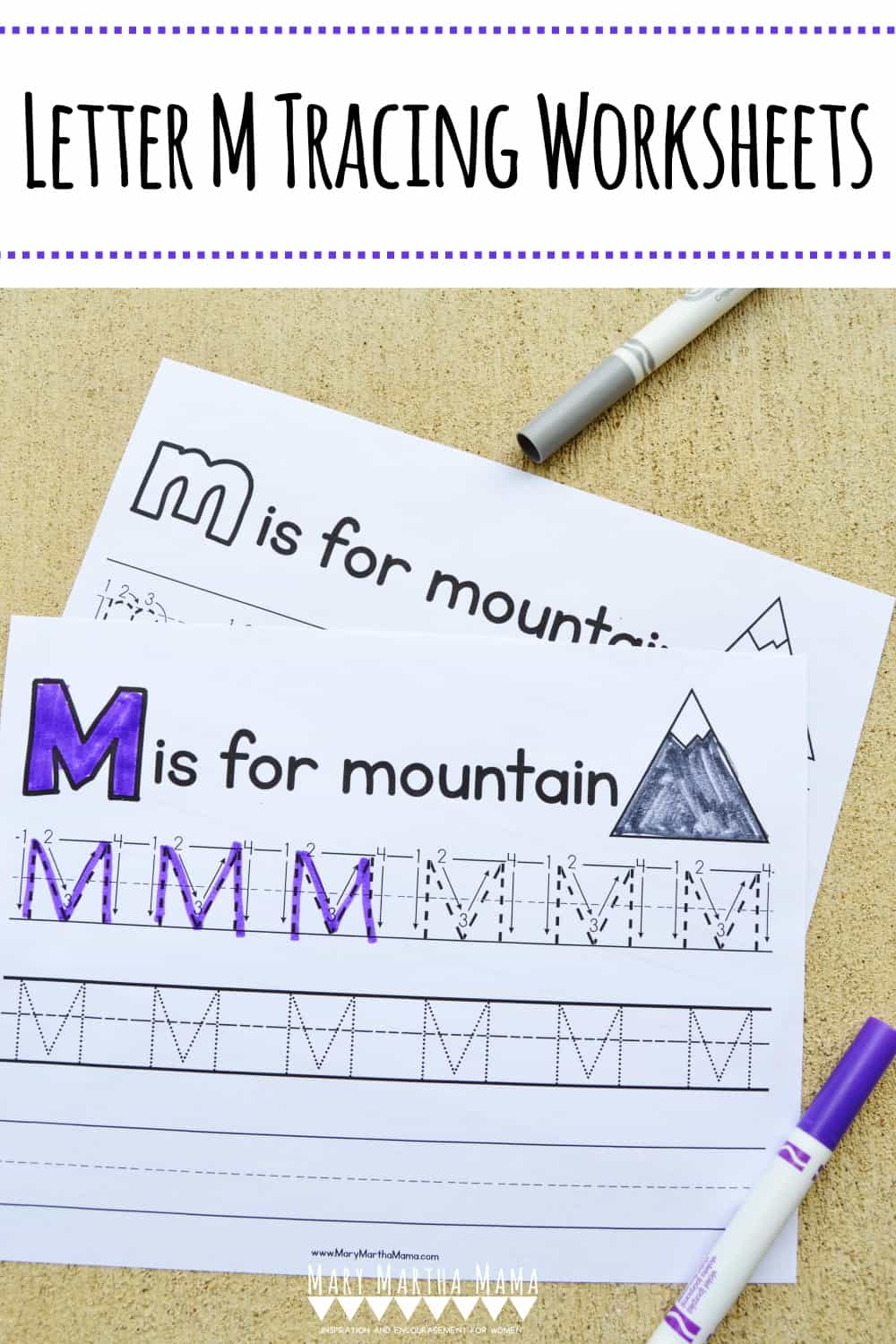 Use these free printable Letter M Tracing Worksheets to help you child learn how to write capital and lower case letter M.