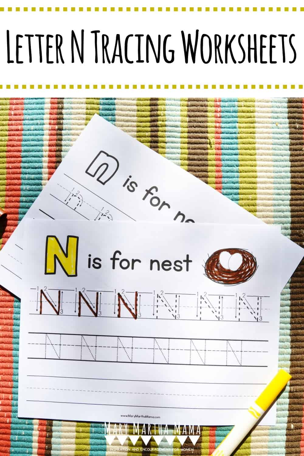Use these free printable Letter N Tracing Worksheets to help your kiddo learn proper letter formation for upper and lower case N.