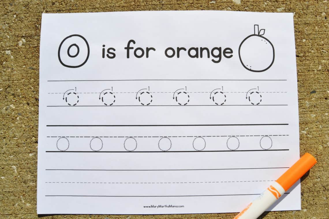 Letter O Tracing Worksheets: Lower Case