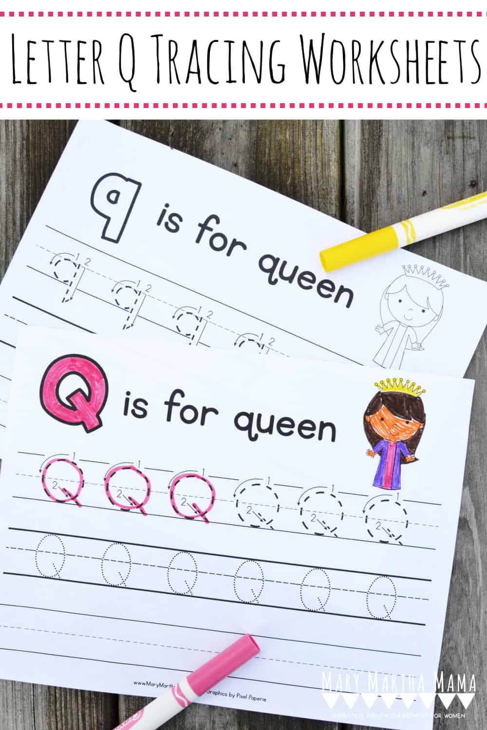 Use these free printable Letter Q Tracing Worksheets to help your kiddo learn proper letter formation for upper and lower case Q.