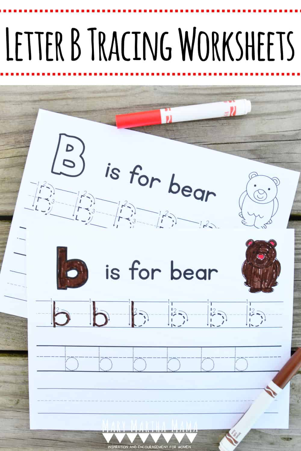 Working on proper letter formation with your child or students? Check out these free printable Letter B Tracing Worksheets.