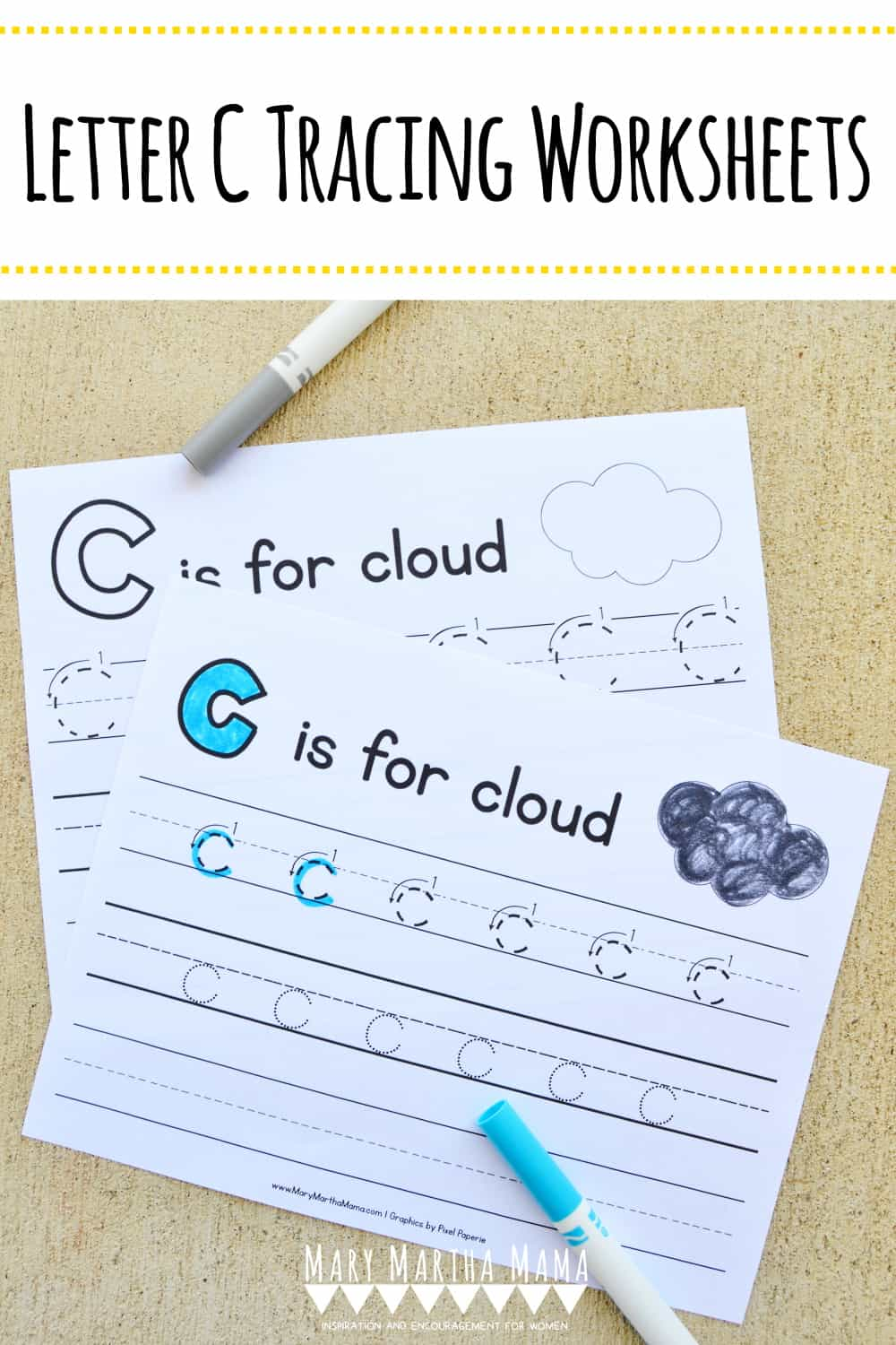 Is your child learning how to write his or her letters properly?  Check out these free printable Letter C Tracing Worksheets.