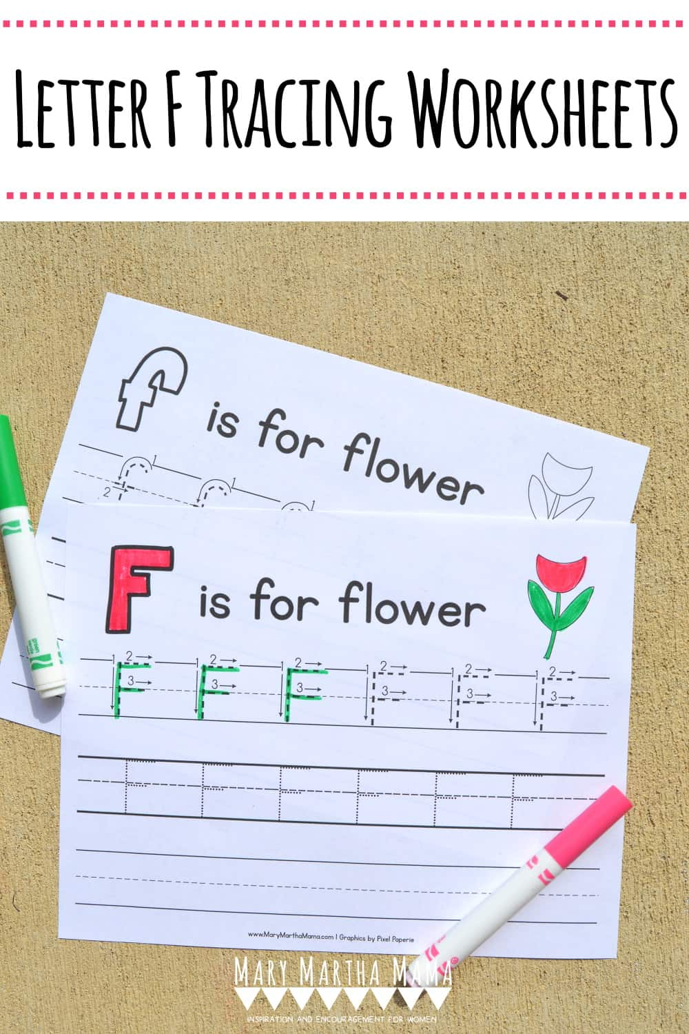 Is your kiddo working on handwiriting?  Help him or her to work on proper letter formation with these free printable Letter F Tracing Worksheets.
