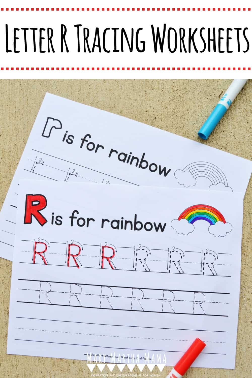 Use these free printable Letter R Tracing Worksheets to help your kiddo learn proper letter formation for upper and lower case R.