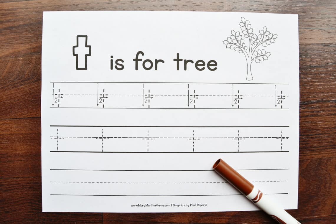 Letter T Tracing Worksheets: Lower Case