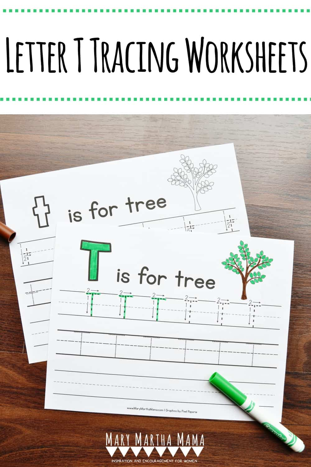 Use these free printable Letter T Tracing Worksheets to help your kiddo work on learning proper letter formation for lower and upper case letter T.