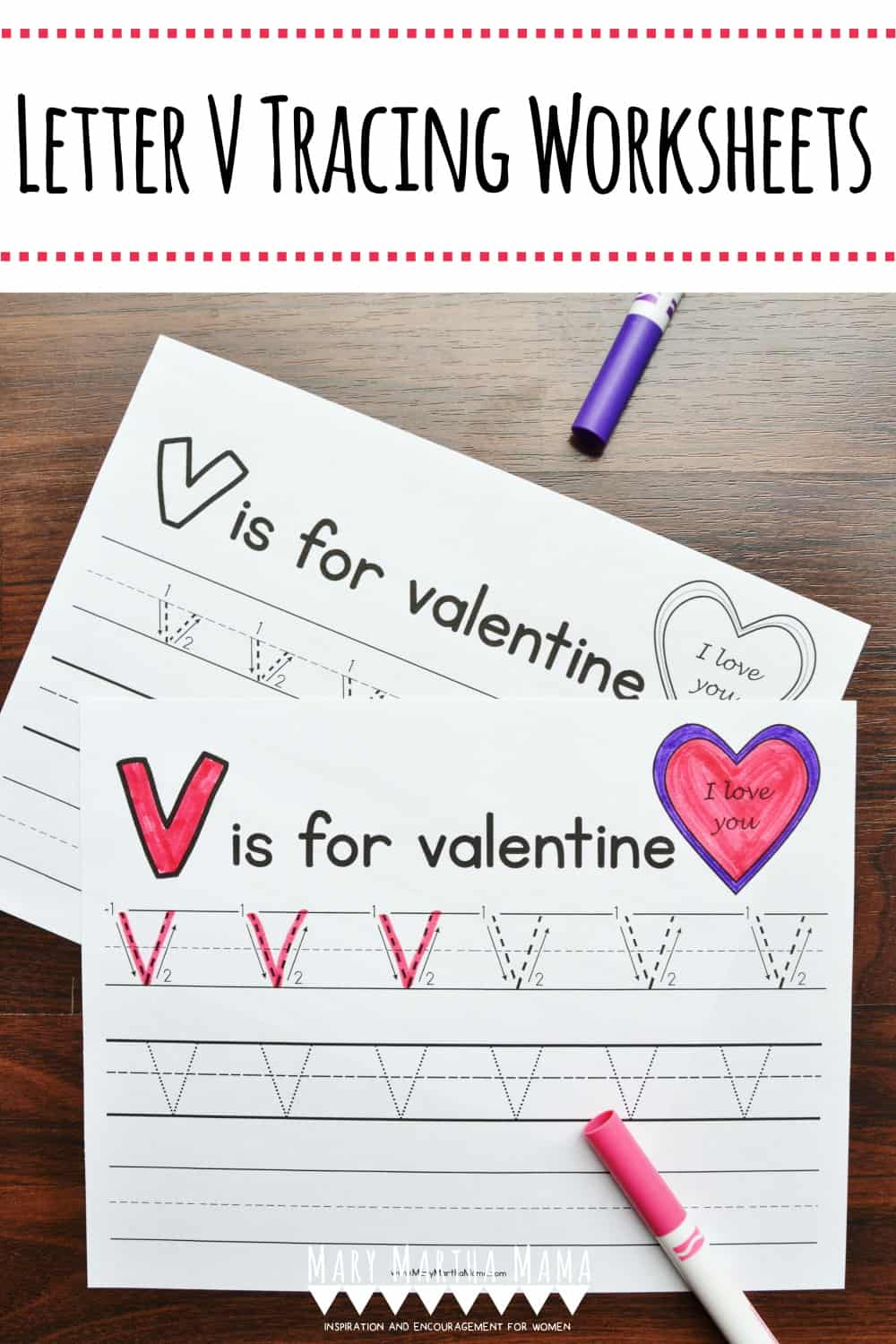 Use these free printable Letter V Tracing Worksheets to help your kiddo to learn proper letter formation for lower case and upper case letter V.