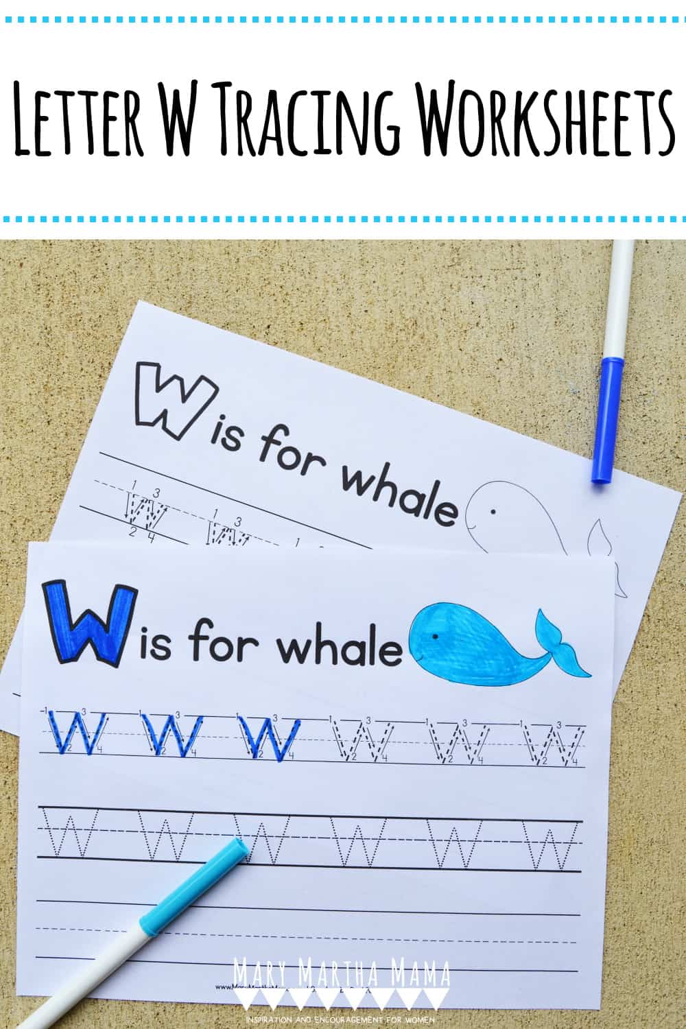 Use these free printable letter W tracing worksheets to help your kiddo learn proper letter formation for upper and lower case W.