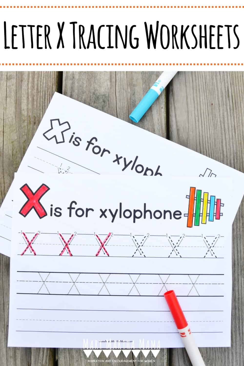 Use these free printable Letter X Tracing Worksheets to help your kiddo learn proper letter formation for upper and lower case X.