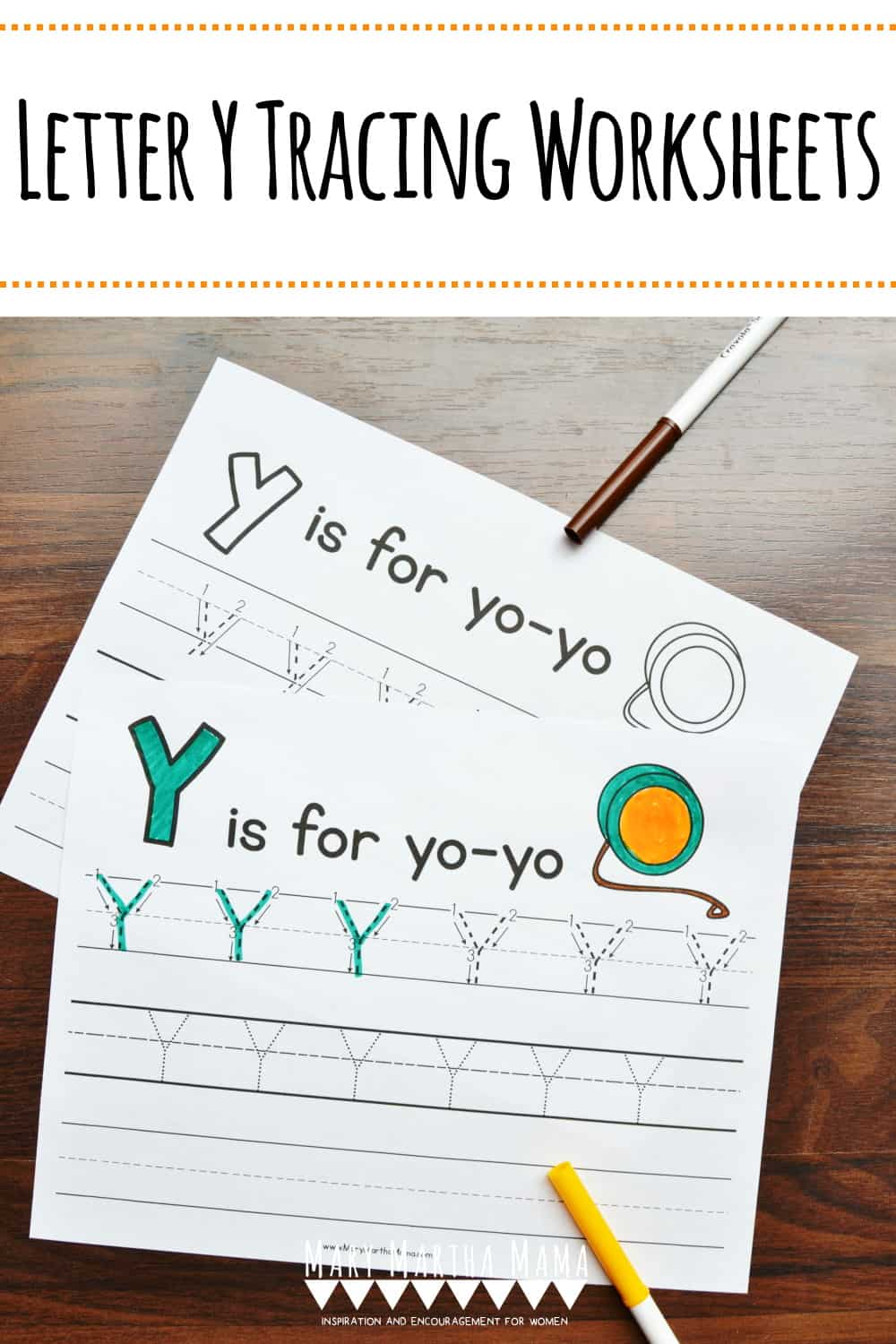 Use these free printable Letter Y Tracing Worksheets to help your kiddo learn proper letter formation for upper and lower case Y.
