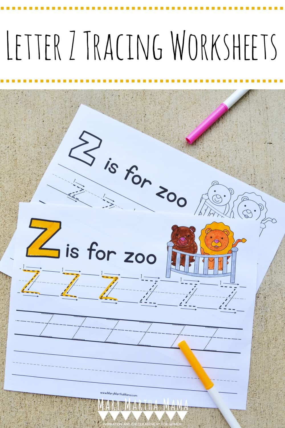 Use these free printable Letter Z Tracing Worksheets to help your kiddo learn proper letter formation for upper and lower case letter Z.