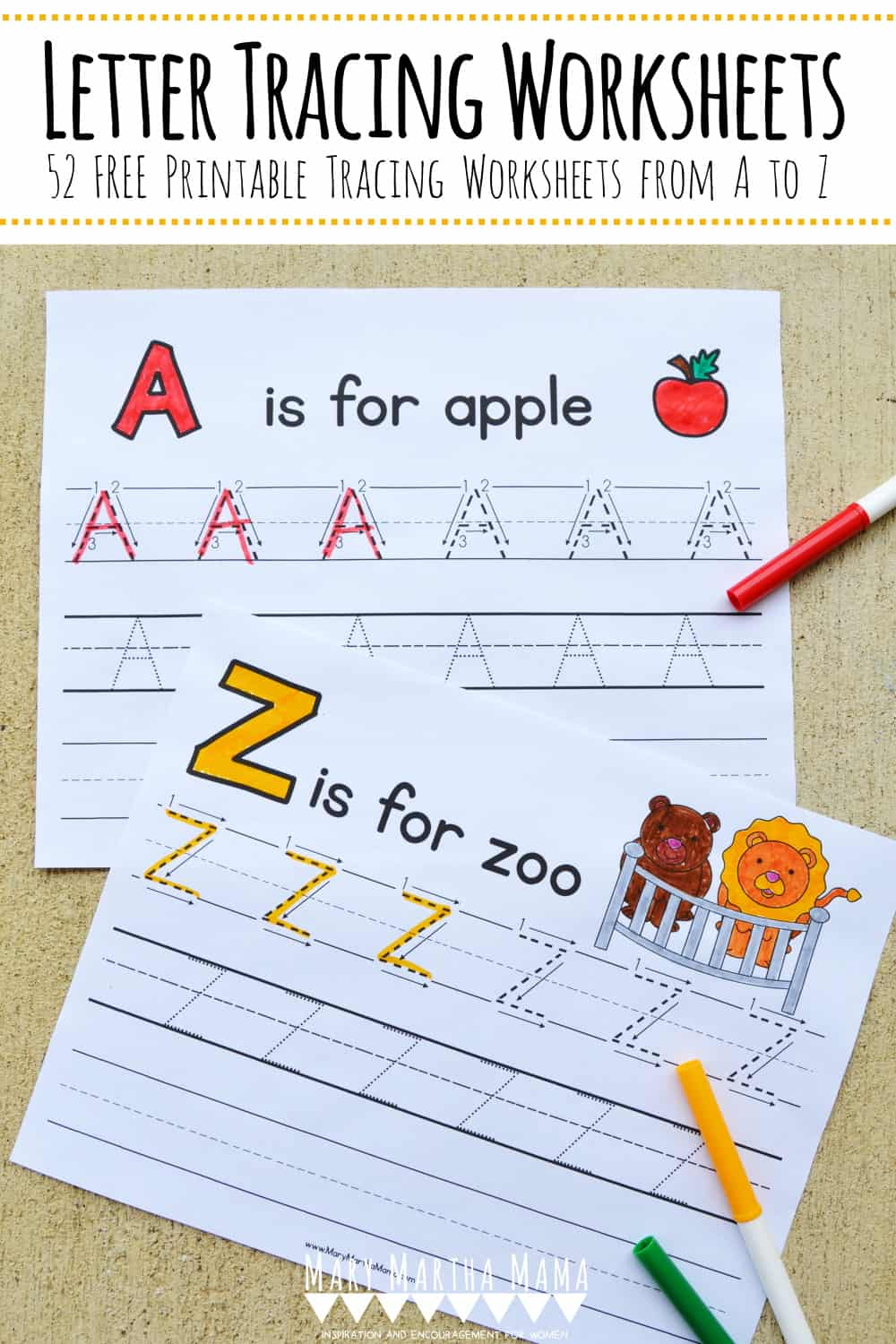 Letter Tracing Worksheets [Free Handwriting Practice ...
