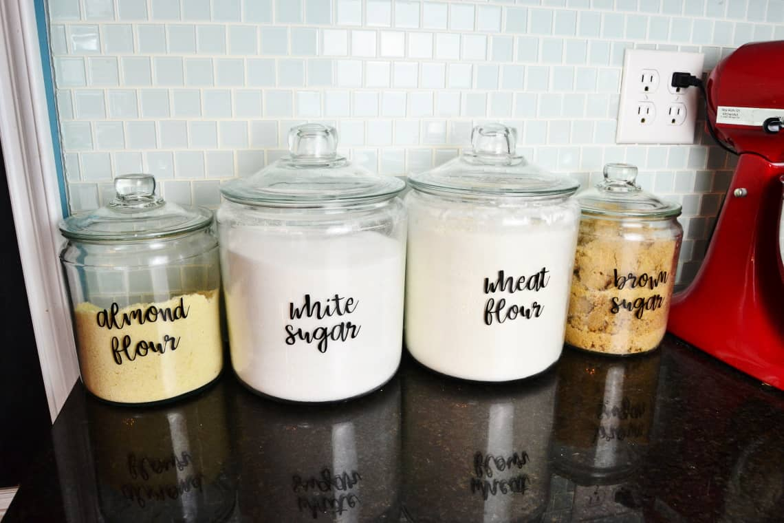 the completed jars with labels