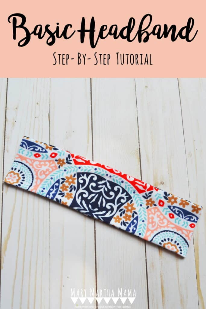 Use this step by step headband tutorial to learn how to sew a basic stretchy headband from knit fabric.  Each step features pictures to help you out!
