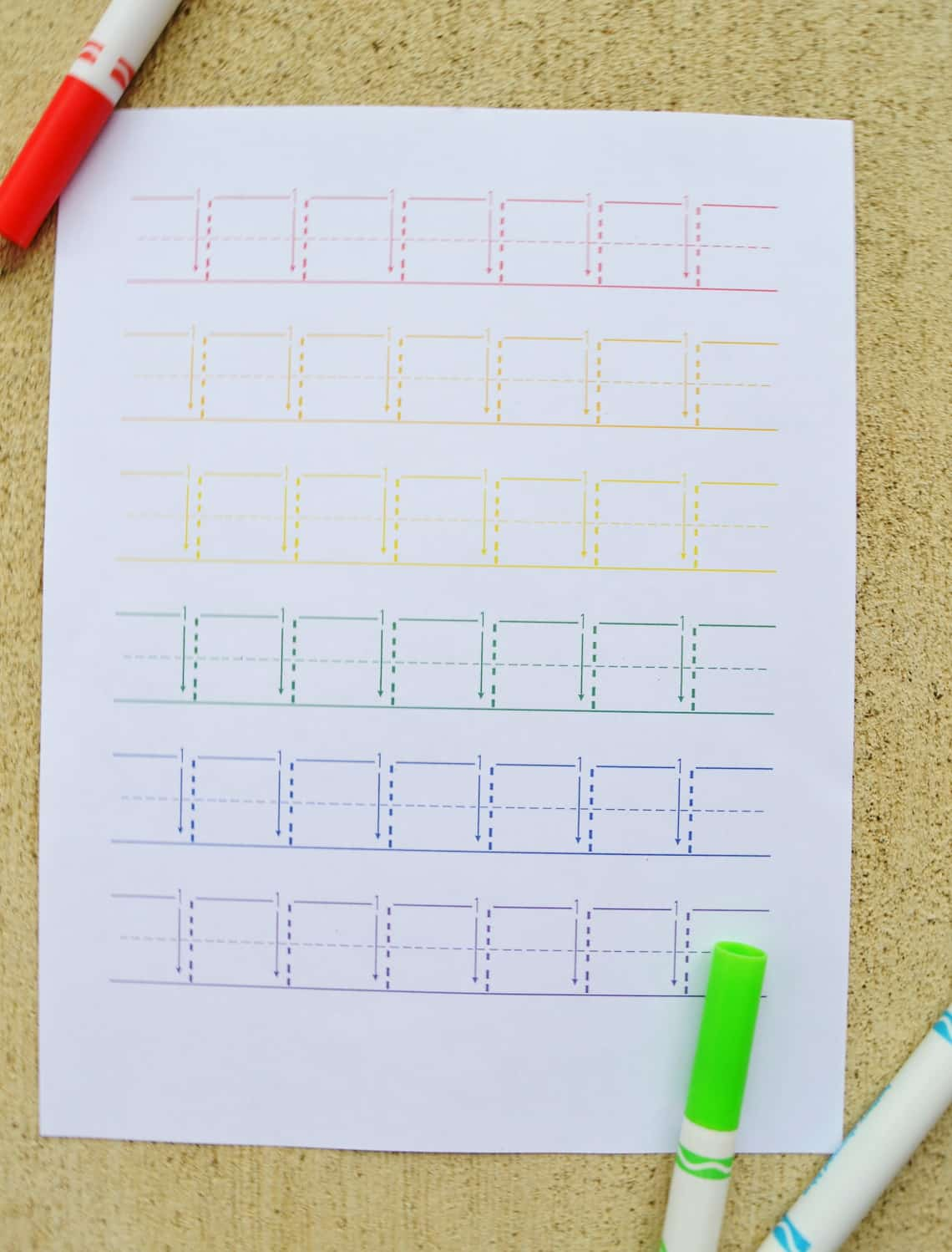 Rainbow Number Tracing Worksheets 1-10