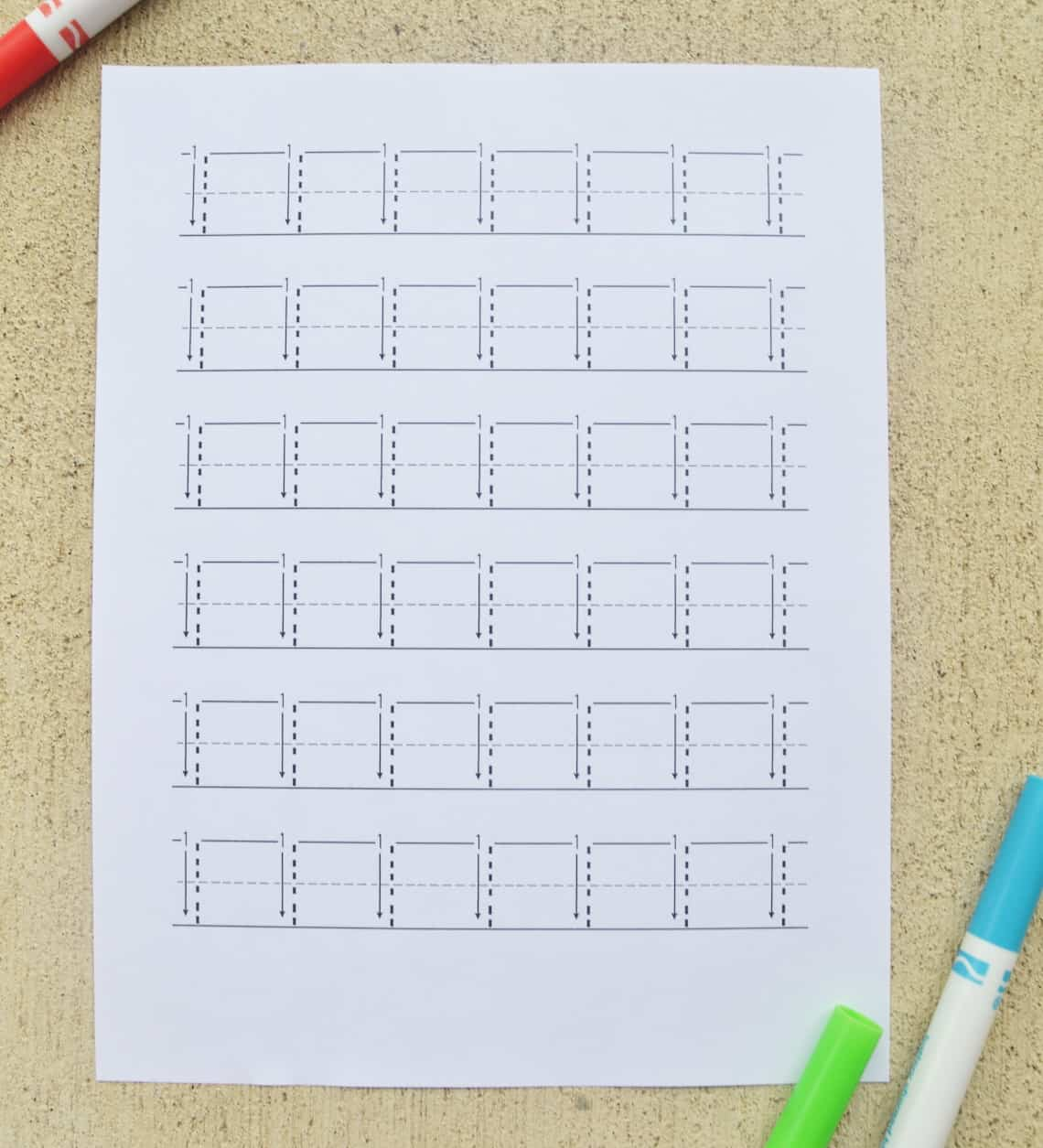 Number Tracing Worksheets 1-10 with arrows