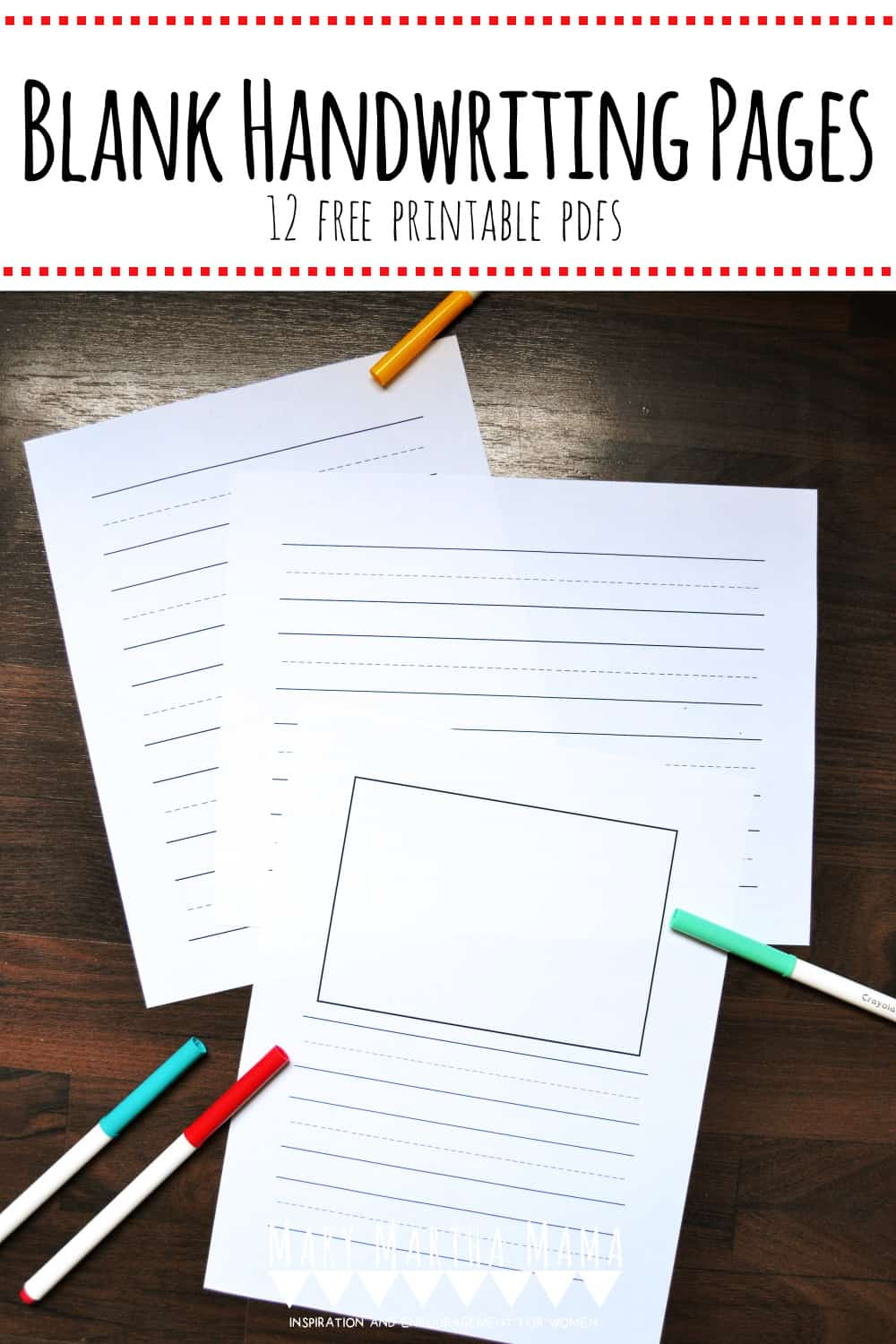 Does your kiddo need to work on handwriting? Use these 12 different styles of blank handwriting sheets to help your child practice.