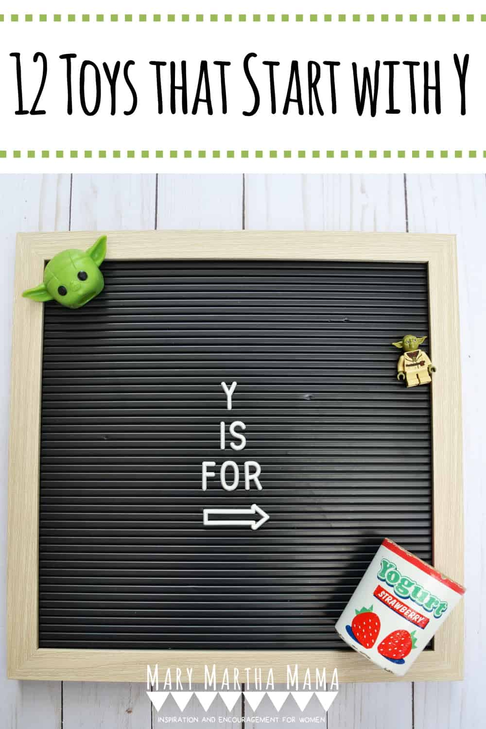 Does your kiddo have a letter of the week show and tell? You need to check out this list of 12 ideas for Toys that Start with Y.