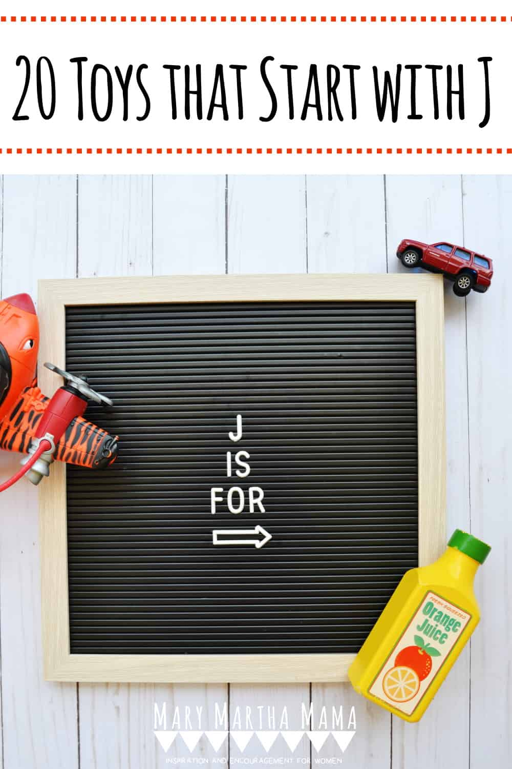 If you have a preschooler or kindergartener with a letter of the week show and tell then you need to check out this list of Toys that Start with J.