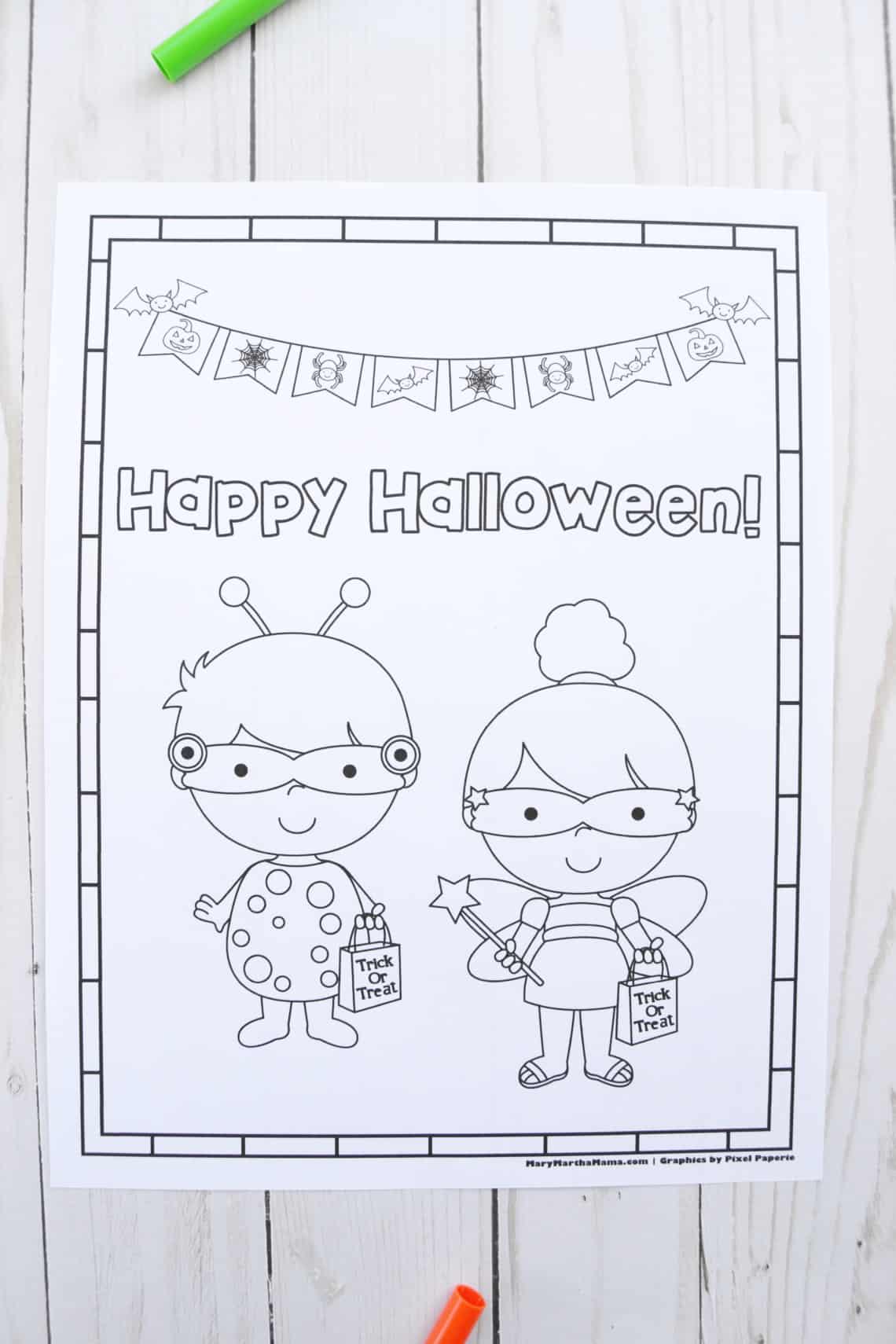 Free Printable Halloween Coloring Pages: Lady Bug + Princess