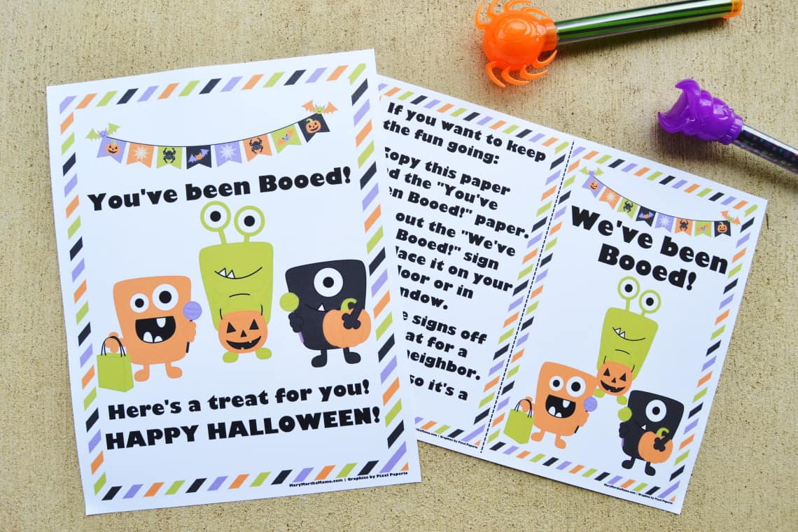 You've Been Booed Printable Monsters Version