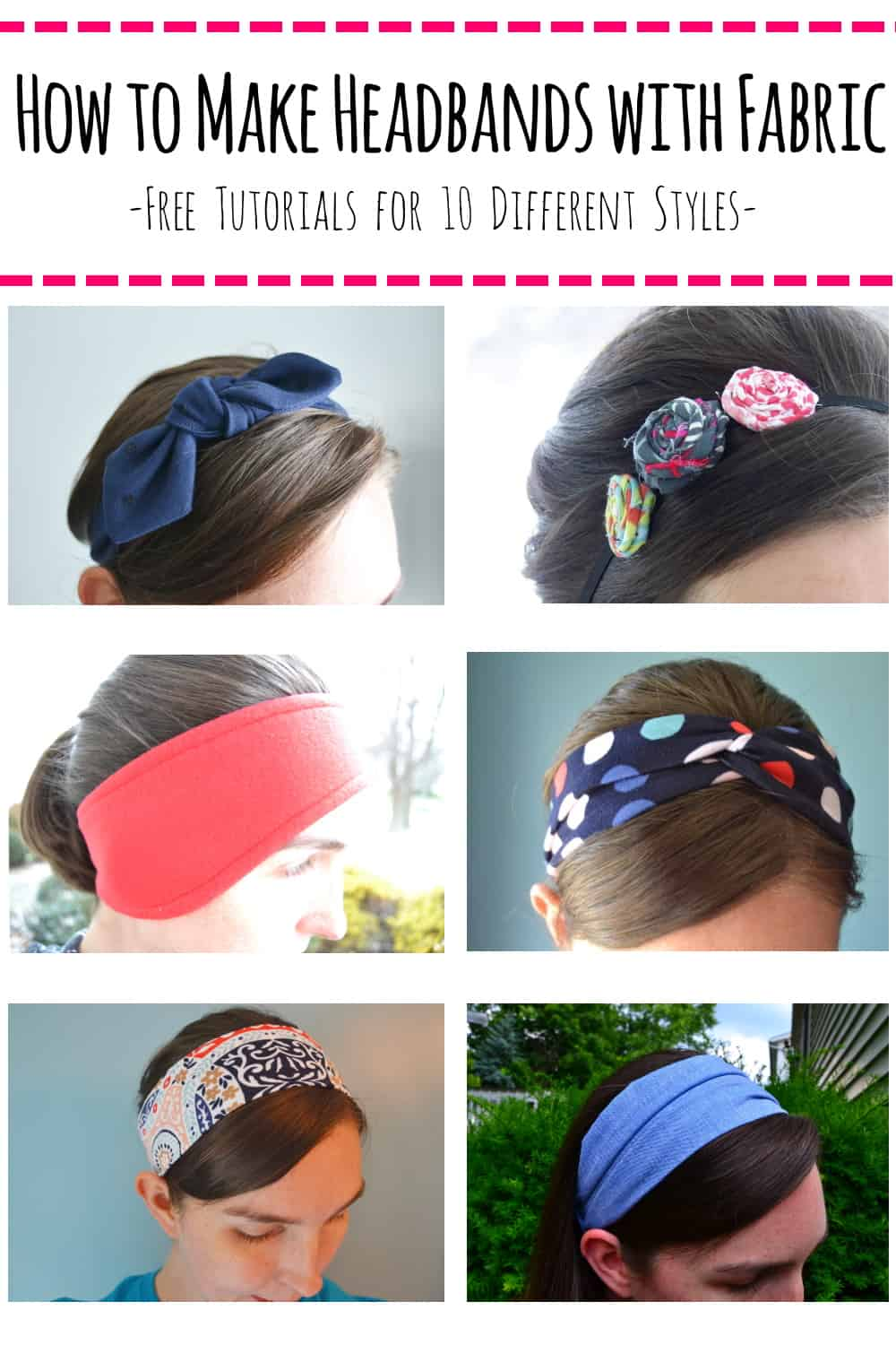 There are so many different ways you can make headbands.  Check out this post to learn how to make headbands with fabric 10 different ways.