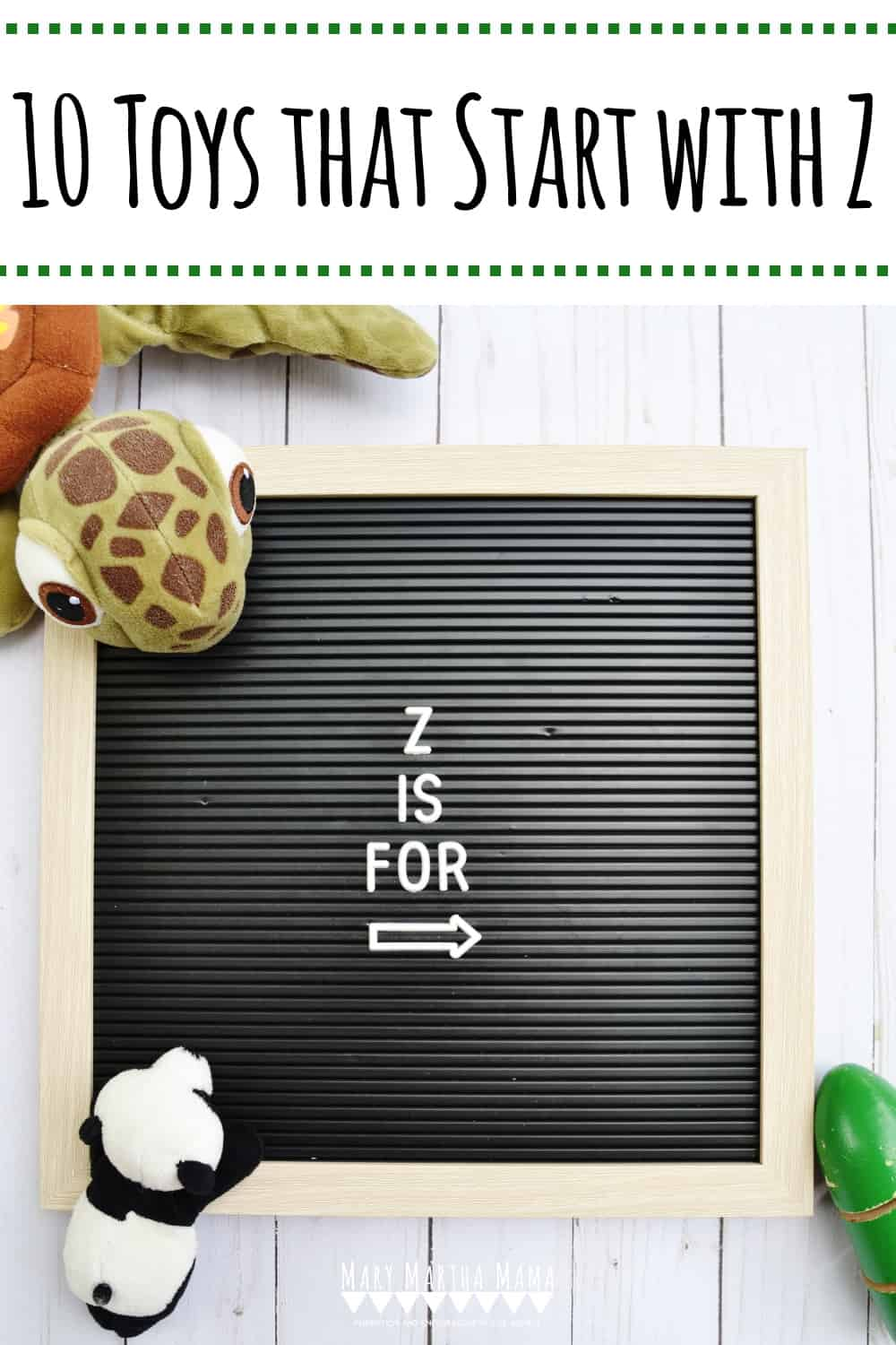 Do you have a kiddo who has a letter of the week show and tell assignment? You need to check out this list of 10 Toys that Start with Z.